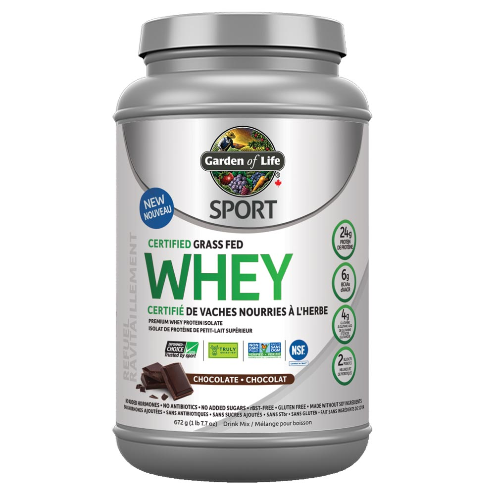 : Garden of Life Sport Grass Fed Whey Protein, Chocolate
