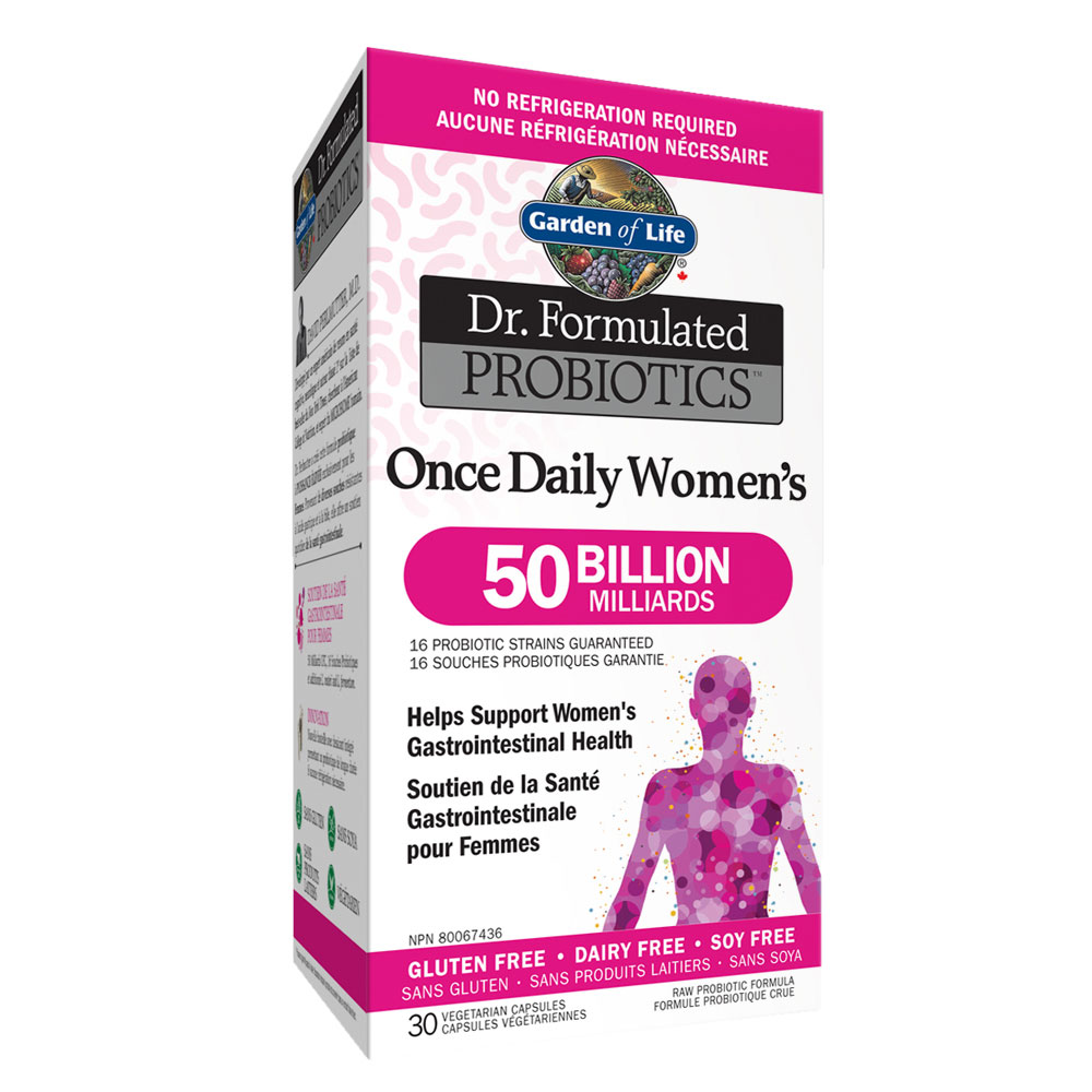 : Garden of Life Dr. Formulated Once Daily Women 50B Probiotics, Shelf Stable