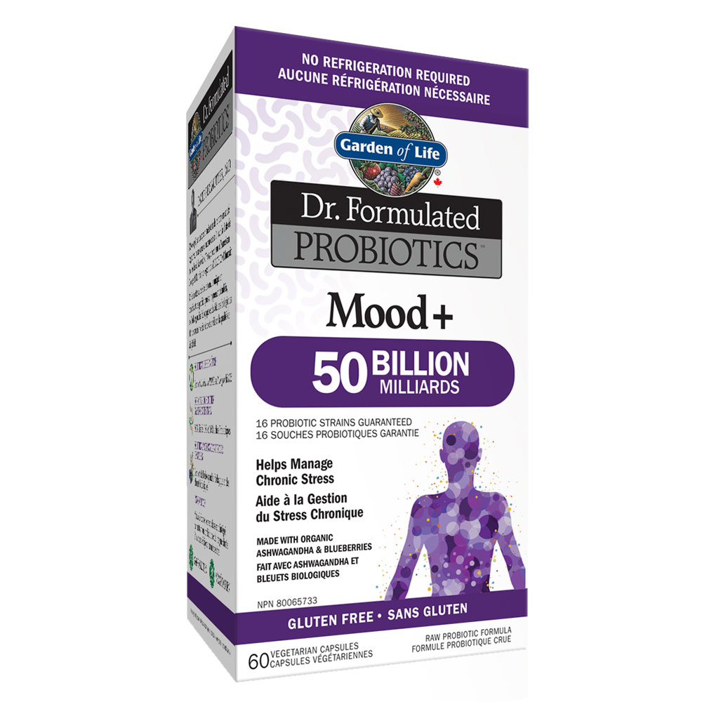 : Garden of Life Dr. Formulated Mood + 50B Probiotics, Shelf Stable