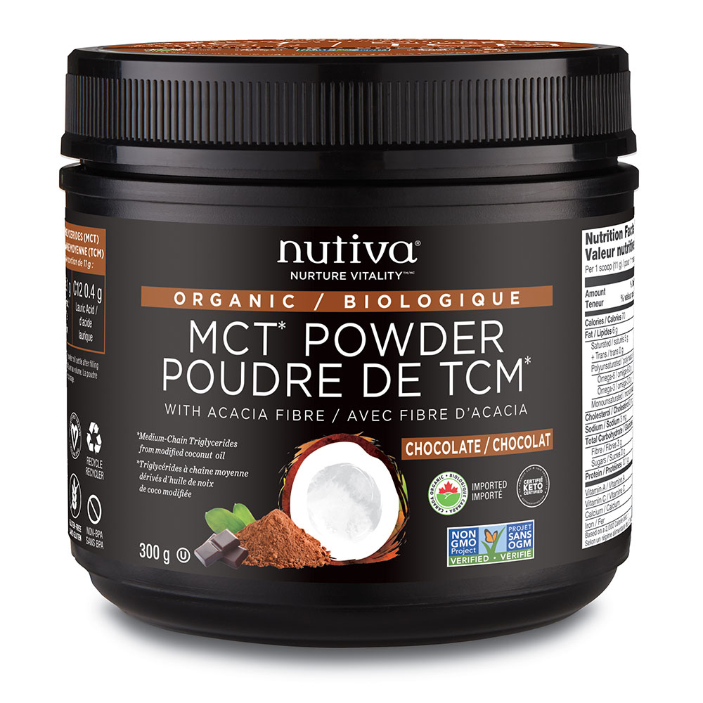 : Nutiva Organic MCT Powder, Chocolate