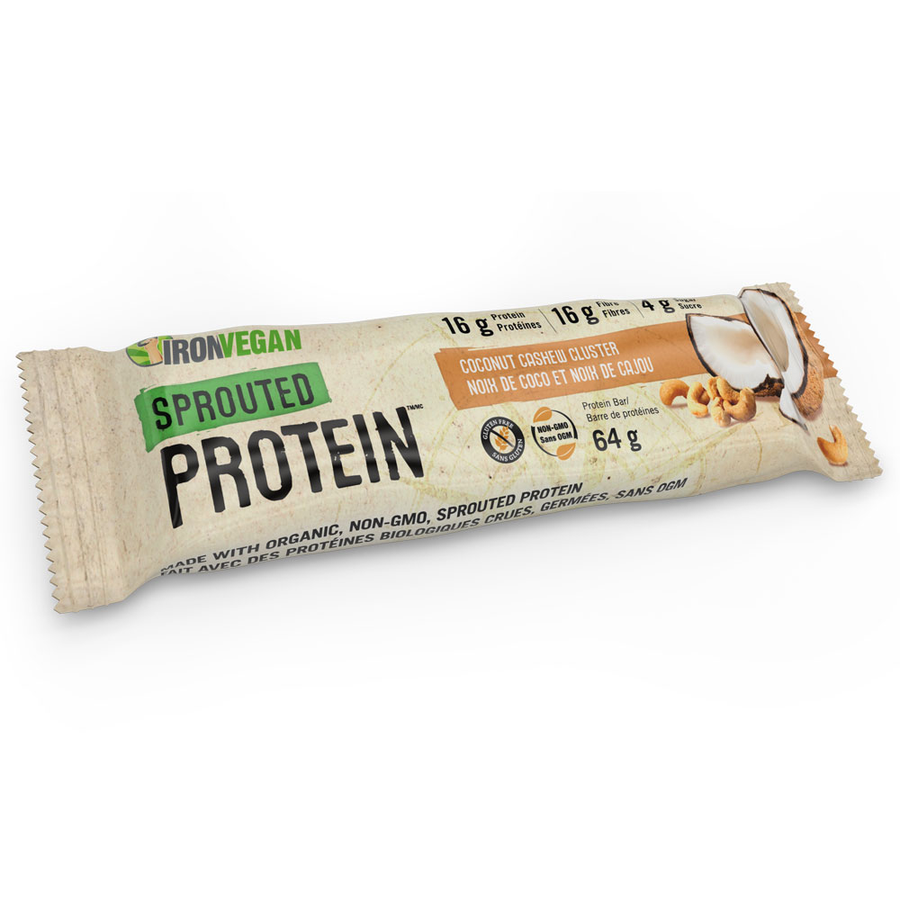 : Iron Vegan Sprouted Protein Bar, Coconut Cashew Cluster