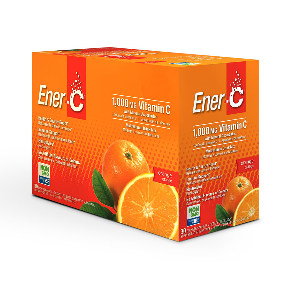 : Ener-C 1000mg Vitamin C Effervescent Drink Mix, Orange